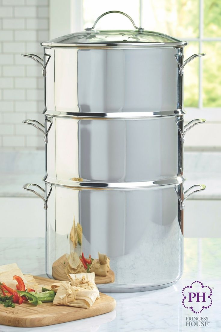 Use all the pieces of the Princess Heritage® Stainless Steel Classic 5-Piece Multicooker to feed a crowd at your big summer parties, or use one or two pieces for a smaller meal. One multicooker for any occasion!