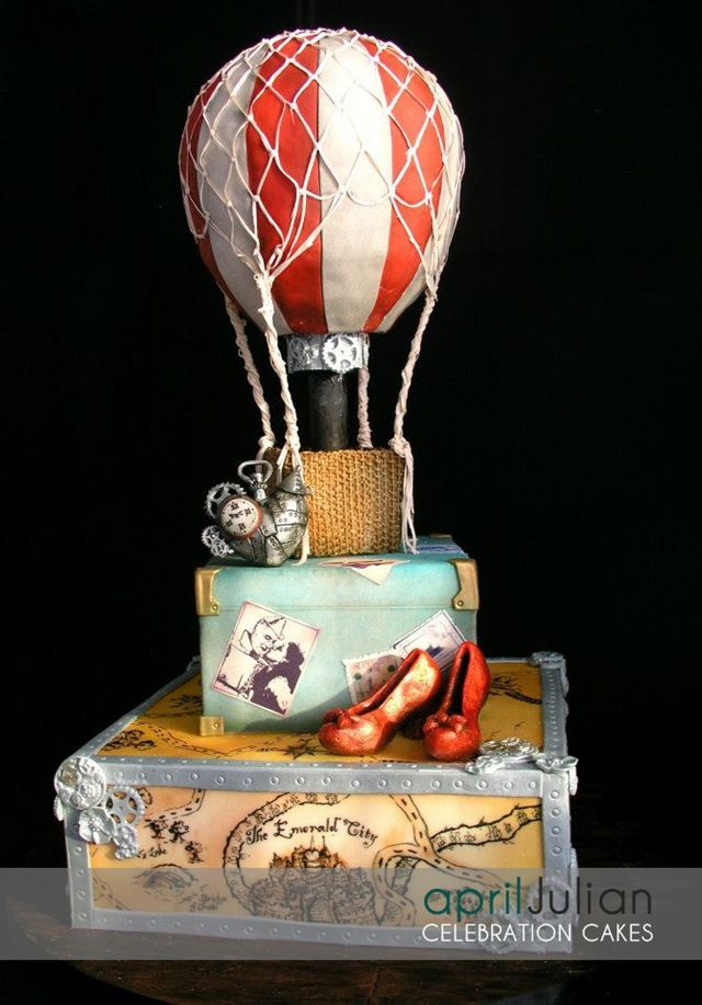 Steampunk Wizard of Oz Cake - somebody with mad decorating skills make this for me!!!!
