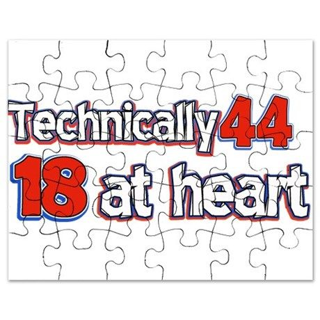 44 year old birthday designs Puzzle on CafePress.com