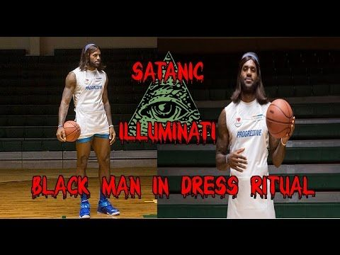 Lebron James Illuminati Sell-Out Black Man in Dress Ritual Abomination EXPOSED! - YouTube