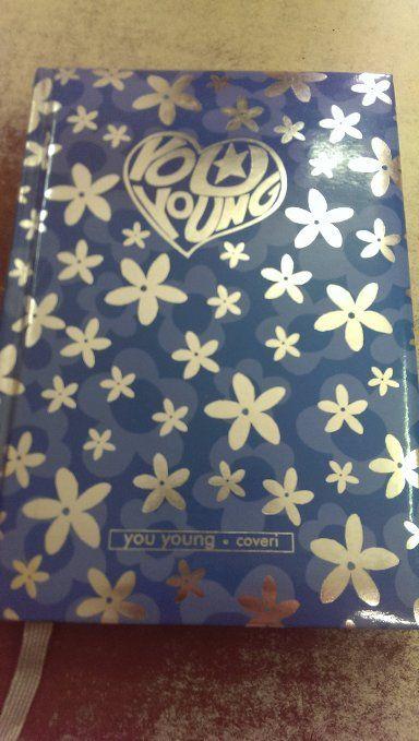 Diario Enrico Coveri You Young colore Blu con Fiori argento