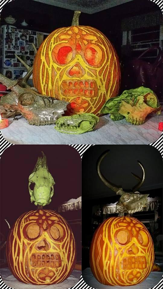 best 25  sugar skull pumpkin ideas on pinterest