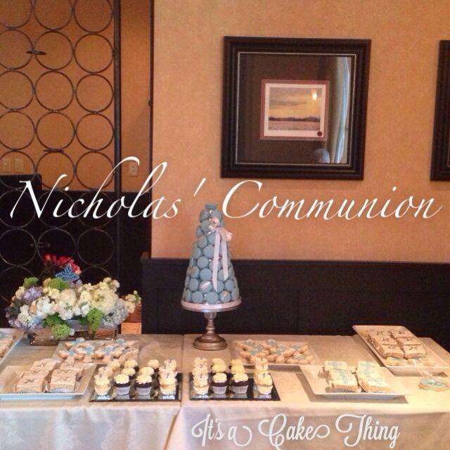 ▶ Play-  Nicholas' Communion dessert table at Villaggio by It's a Cake Thing #nutfree  - http://flipagram.com/f/VaVeh51DVM