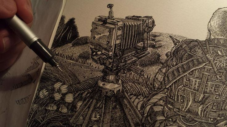 Bogdan Lupescu on Behanse: Drawing landscape Travels. Take a look at his portfolio.