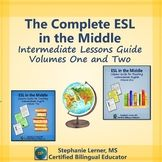 The Complete ESL in the Middle: Intermediate Lessons Guide- BRAND NEW! Need some effective, easy-to-follow lesson plans to strengthen the English speaking and listening skills of your intermediate ESL/EFL students? Well, look no further because this bundle includes TWO  intermediate ESL teaching guides with a total of 40 lesson plans!