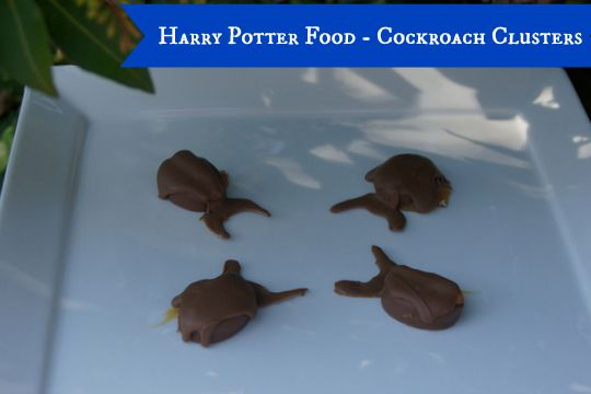 This recipe is part of a series on Harry Potter Food. Click here to see more. While these may conjur up awful images in your mind (I detest cockroaches), they actually taste fantastic! I used Werther's Originals Chocolate Caramels to make these cockroach clusters. I picked them up from ALDI. You could really get as …