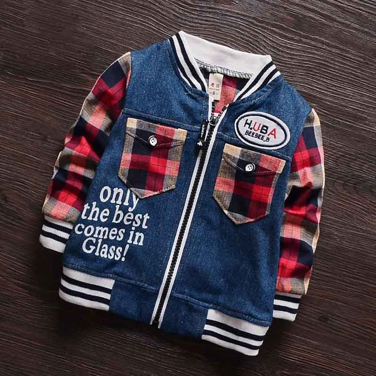 Find More Jackets & Coats Information about (6M 30M) Baby Plaid Pocket Cowboy Suit, Jeans Wear Coat, Baseball Jersey, Boys Spring Jacket Cotton Bomber Jackets Kids Clothing,High Quality clothing rack,China jacket with fur men Suppliers, Cheap jacket windstopper from Witness the Growth of Children on Aliexpress.com
