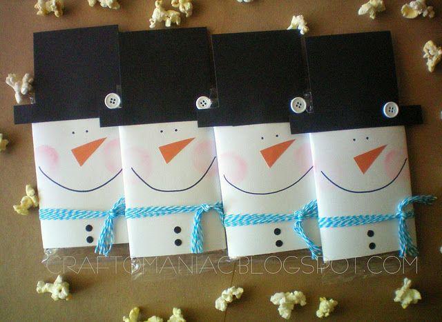 Snowman popcorn gift