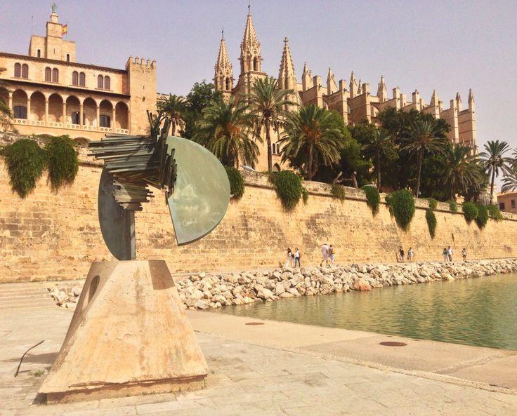 PALMA, SPAIN: LA SEU. Breathtaking civic beauty in and around Palma's cathedral