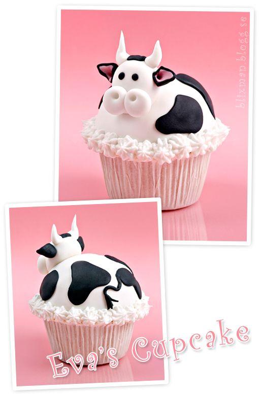 cow cupcake | Moo Moo's | Pinterest | Cupcakes, Cake and Cupcake cakes