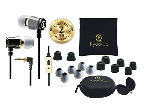 Special Offers - Kyoo-Up O42 In Ear Headphones Bundle: Noise Isolating Earbuds with Mic Earphones with case Earbud Pouch Premium Foam Ear Tips (Black and Gold earbuds) For Sale - In stock & Free Shipping. You can save more money! Check It (January 04 2017 at 12:00PM) >> http://ift.tt/2j2PvK4