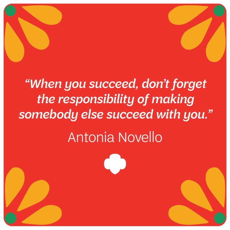 Antonia Novello's quote is one to live by. This physician, public health administrator, and Girl Scout served as the 14th Surgeon General of the United States from 1990 to 1993 – becoming both the first Hispanic and the first woman to serve the honor. We're happy to celebrate her legacy during Hispanic Heritage Month! #HispanicHeritageMonth #QOTD #Inspiration