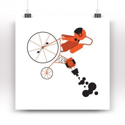 Ciclocosmico Print, White
