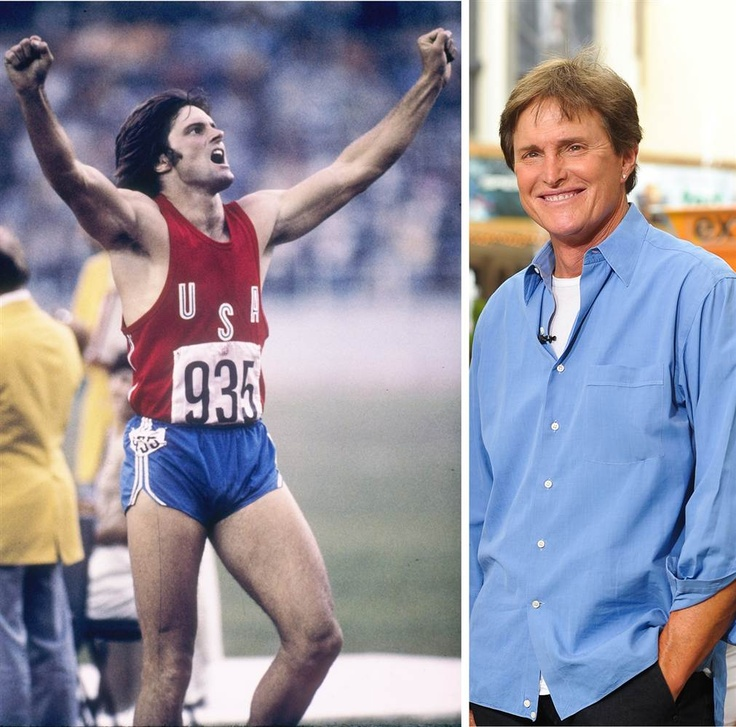 """Bruce Jenner Then and Now  U.S. track and field athlete Bruce Jenner celebrates his record-setting performance in the decathlon in the 1976 Summer Olympics in Montreal, where he won the gold medal. In the decades that followed, Jenner became a motivational speaker and an enduring television personality. Married to Kris Jenner, he's starred in the E! reality series """"Keeping Up with the Kardashians"""" since 2007."""