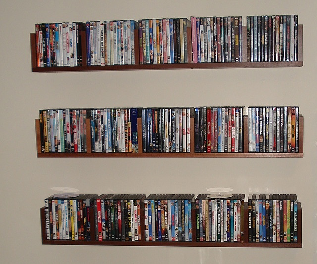 My Benno DVD Wall Shelves by Communicore82, via Flickr