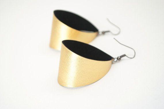 Gold earrings simple earrings minimal earrings by elfinadesign