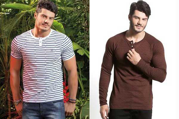 Onde comprar camiseta Henley masculina: 9 dicas de lojas online - El Hombre