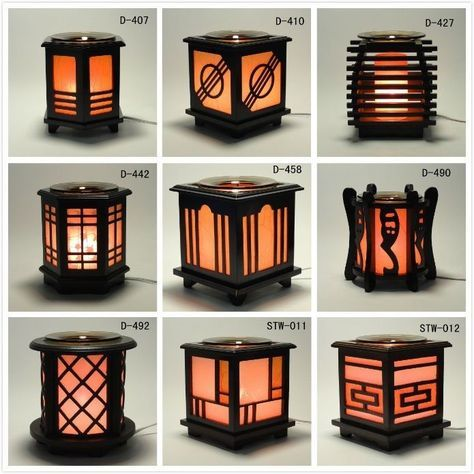 *Japanese* Wooden Electric Scent Oil Diffuser Warmer Burner Aroma Fragrance Lamp #Model
