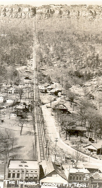 Real Photograph Chattanooga TN Incline Railroad up Lookout Mountain Real Photo Circa 1930 by Photographer Signed WM Cline 3 and 5 8ths by 2 and a half printed on Velox Photo Paper 1 by UpNorth Memories - Donald (Don) Harrison, via Flickr