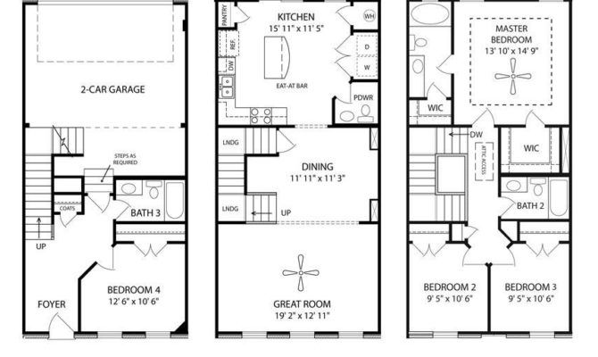Story Townhouse Floor Plans Floor Plans How To Plan Architecture Plan