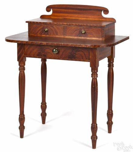 New England Sheraton painted pine dressing table, ca. 1820, retaining its original orange grain - Price Estimate: $400 - $800