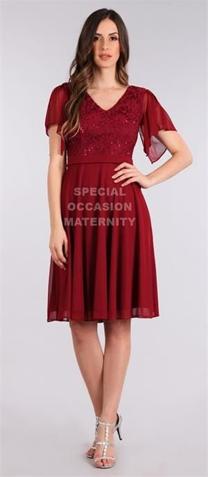 Cocktail Wine Burgundy Maternity Dress for special occasions.
