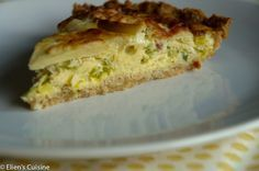 Glutenvrije quiche met prei spek appel