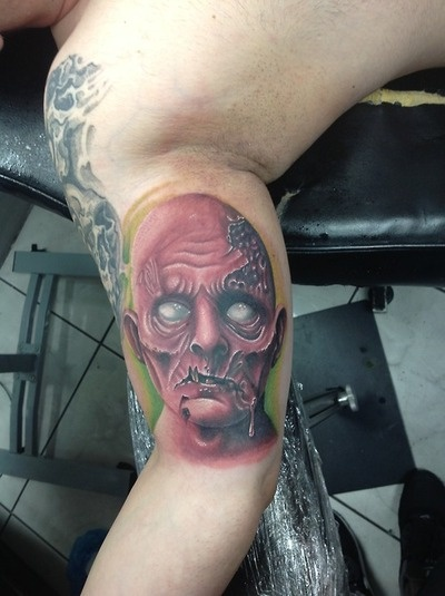 Zombie tattoo done by gabriel inkaholik tattoos tattoos for Revival tattoo and piercing