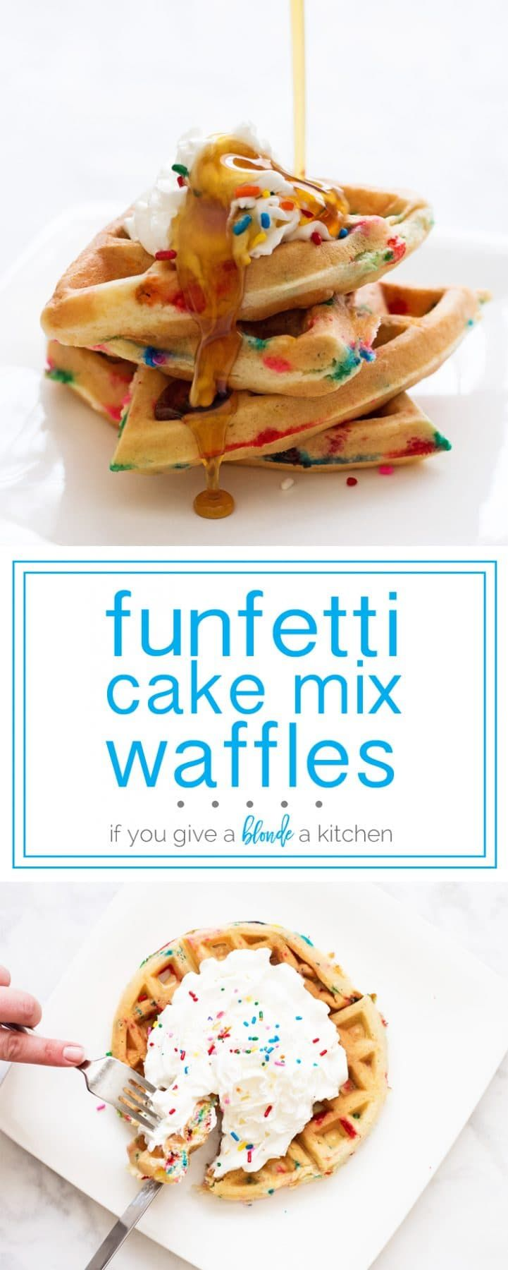 Birthday Cake Waffles From Scratch