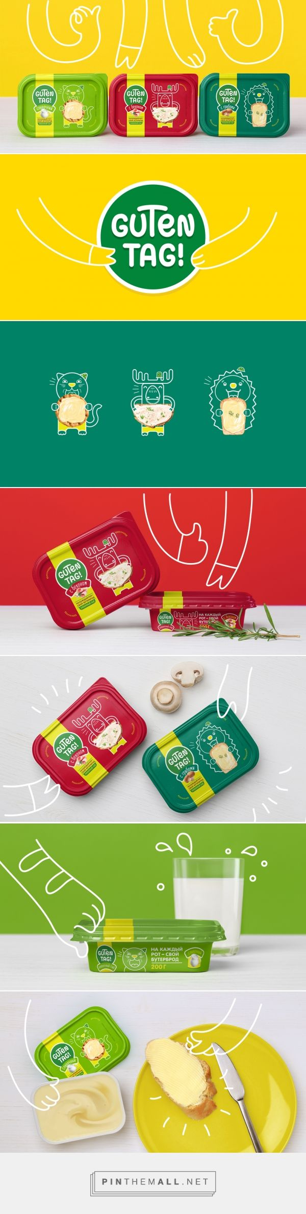 Guten Tag! by Fabula Branding via The Dieline - Branding & Packaging curated by Packaging Diva PD. Be sure and look at the images closely. Cheese snacks for the packaging smile file : )