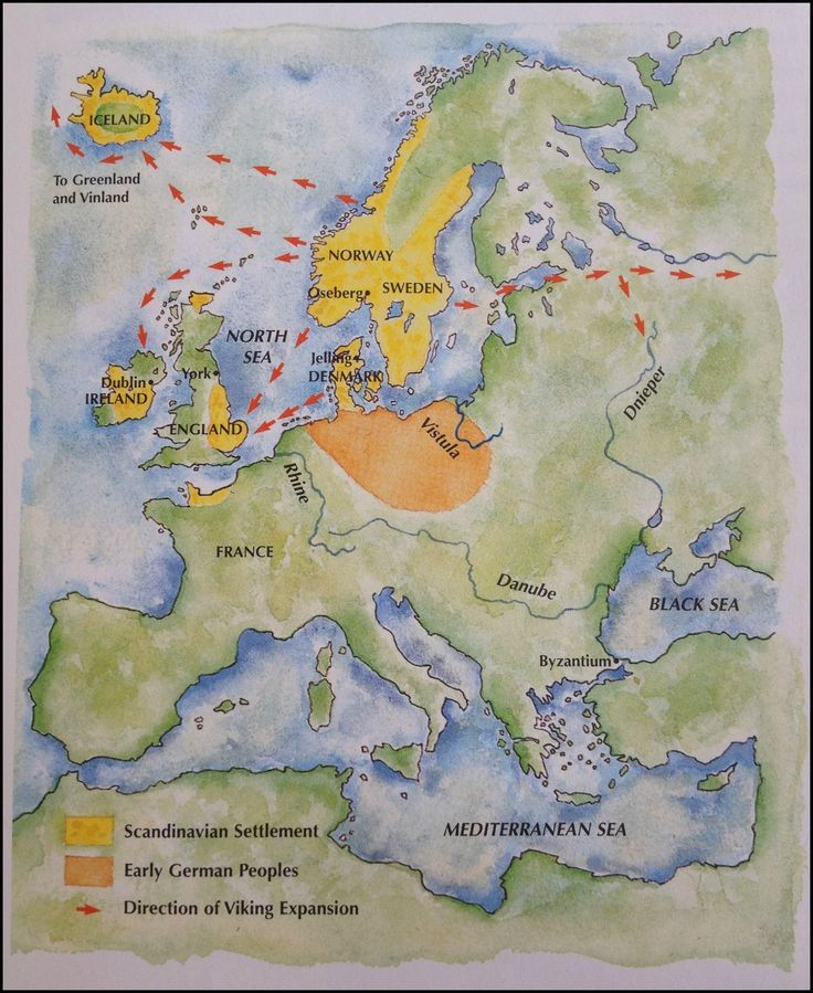 North America Map In 1750%0A A map of Viking expansion  showing that Germanicspeaking peoples  made up  of