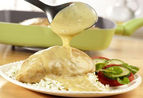 Κοτόπουλο με σάλτσα μουστάρδας και τυρί κρέμα