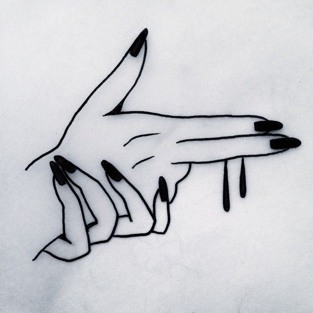 tatouage mains pistolet