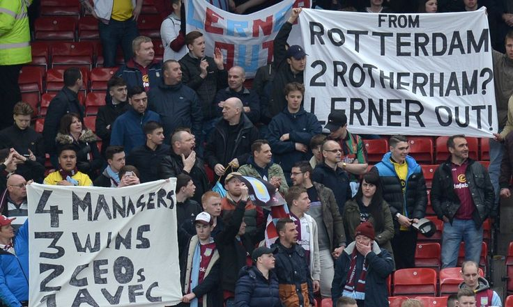 The Aston Villa owner, Randy Lerner, has accepted blame for the club's relegation from the Premier League