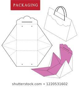 Ilustración de vector de caja de mango. Plantilla de paquete. Mock blanco aislado al por menor …