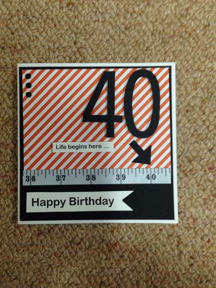 Fun fortieth birthday card.