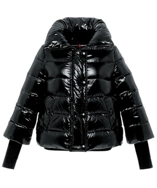 moncler quincy jacket glossy black