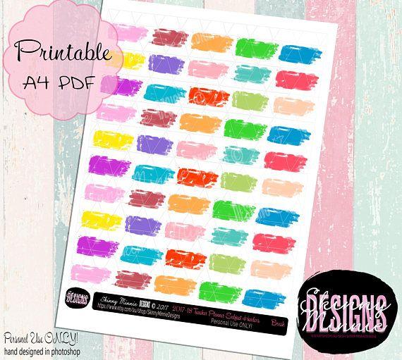 Teacher Planner Subject Header Stickers  Brush Digital