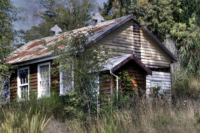 Old school house, Glenore, Otago, New Zealand by brian nz, via Flickr