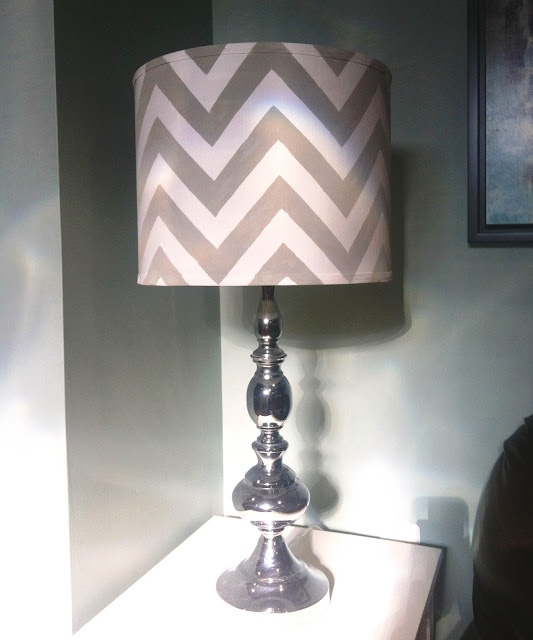 DIY Chevron Lamp Shade!  Tutorial here:  http://six-2-eleven.blogspot.com/2012/07/diy-chevron-lamp-shade.html