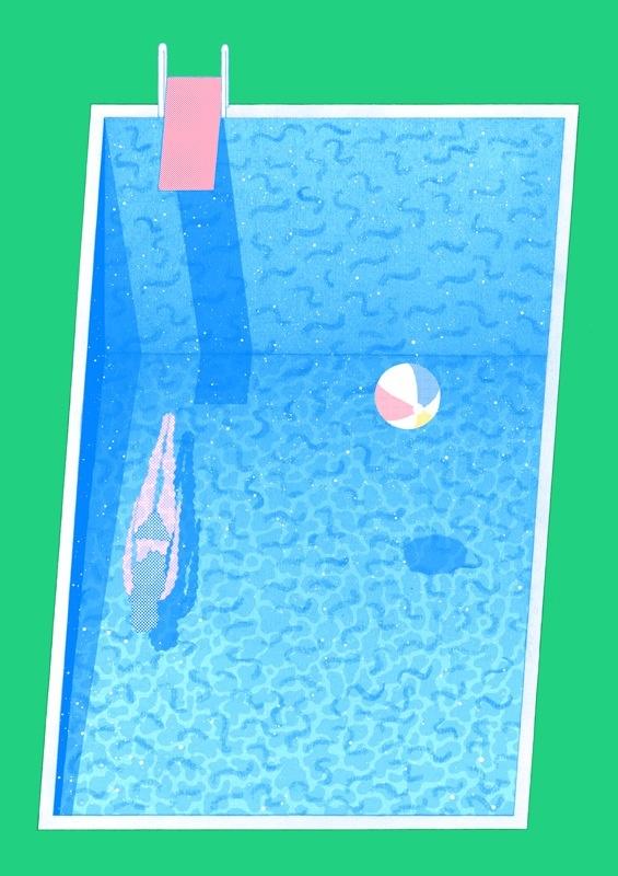 La piscine, c'est le gras
