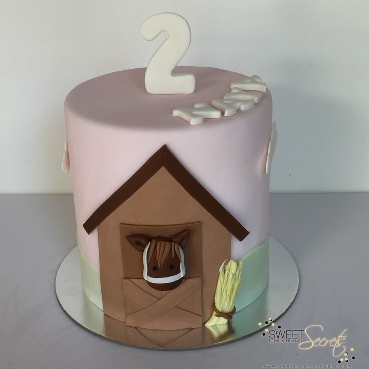 Pastel Horse Cake www.sweetsecretsdubai.com