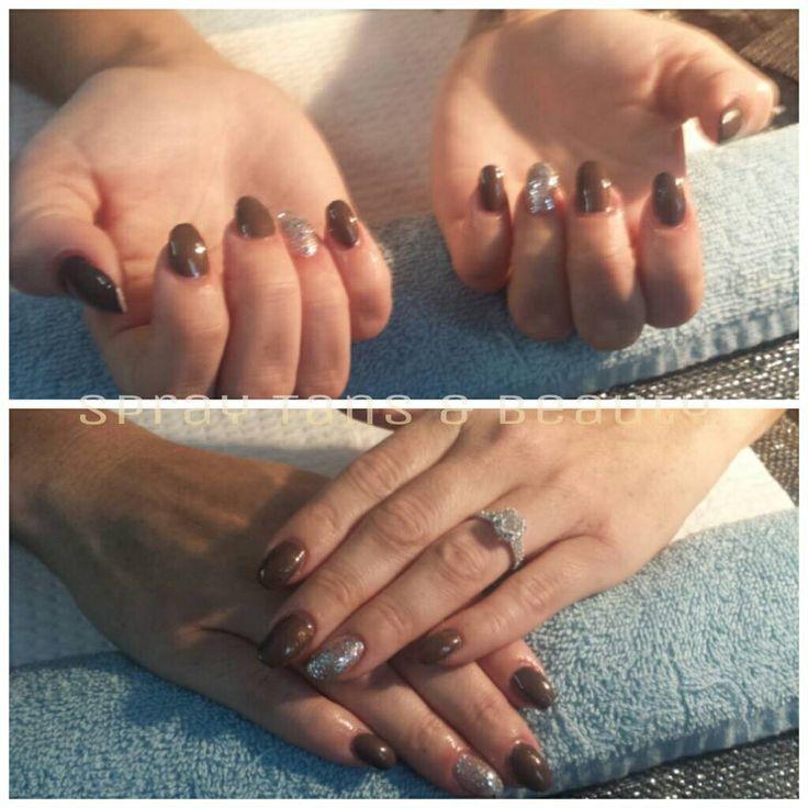 IBD polish and jewel feature nail