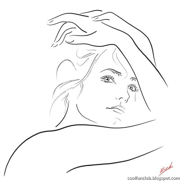 Line Art With Mr E : Coolfunclub line art on women 나염 by 이장효 pinterest