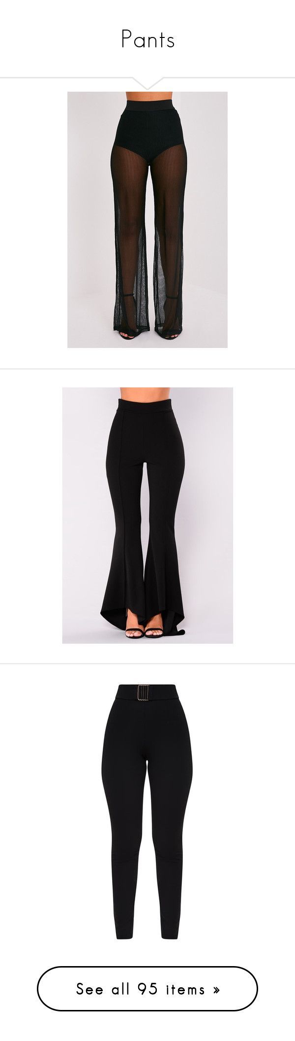 """""""Pants"""" by queen-elenaldntwn ❤ liked on Polyvore featuring pants, sheer wide leg pants, striped wide leg trousers, transparent pants, sheer trousers, striped wide leg pants, bottoms, trousers, alaïa and fitted pants"""