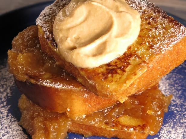 Sally Lunn French Toast with Homemade Apple Butter and Salted Caramel Whipped Cream
