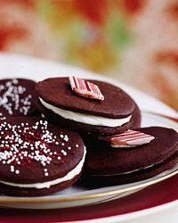 Chocolate-Mint Sandwich Cookies Recipe from Food & Wine....The chocolate wafers can be stored between sheets of wax paper in an airtight container for up to 2 weeks or frozen for up to 1 month.