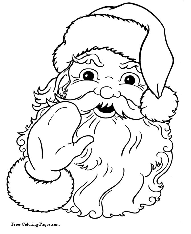 Christmas coloring pages - Santa