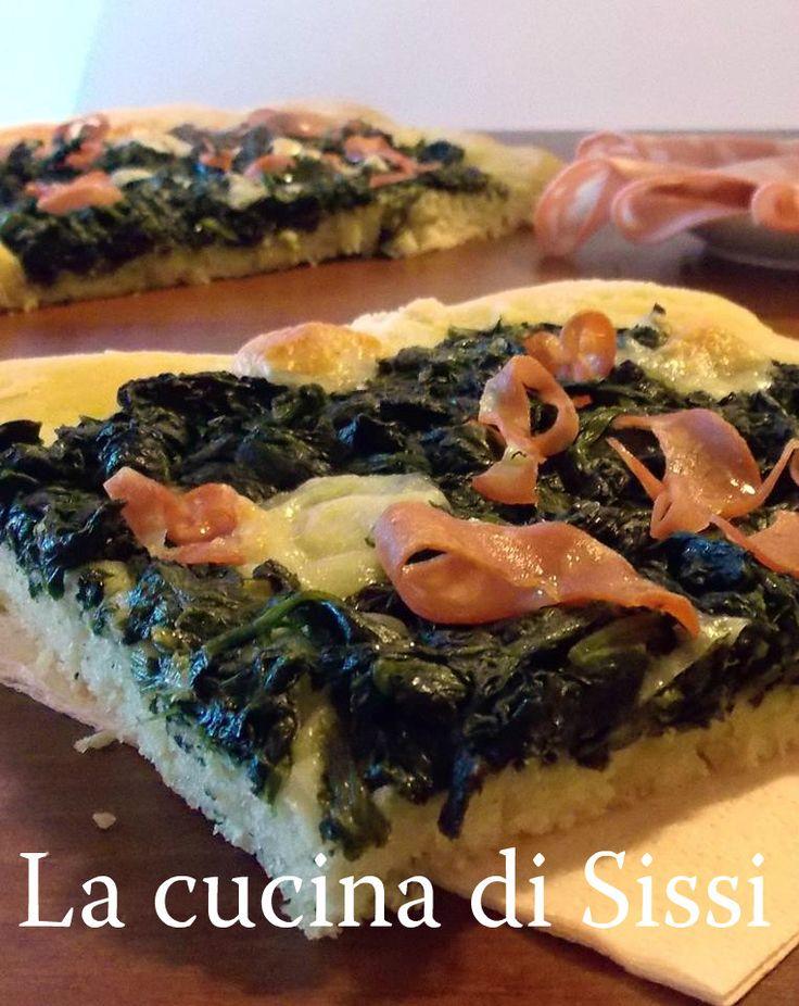 RICETTE BIMBY-FOCACCIA CON SPINACI,MORTADELLA E SCAMORZA http://blog.giallozafferano.it/cucinasissi/ricette-bimby-focaccia-spinacimortadella-scamorza/