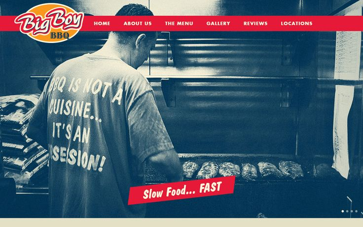 A Good BBQ Restaurant website with complete menus: Big Boy BBQ #website #design